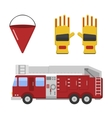 Detailed of fire truck vector image