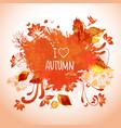 watercolor art for autumn activities vector image