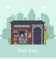 book shop concept banner vector image