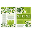 flowers design for spring time poster vector image
