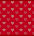 seamless knitted background with hearts vector image