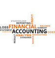 word cloud - financial accounting vector image