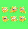 3d set of emotional little kittens vector image