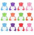 twelve teddy bears vector image
