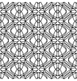Geometrical pattern black and white color vector image