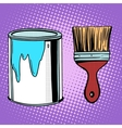 paint brush work painting design vector image
