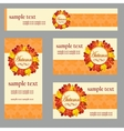 Set of cards in the same style and different size vector image