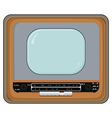 old tv set vector image vector image