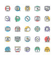 SEO and Internet Marketing Cool Icons 2 vector image