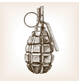Grenade hand drawn sketch vector image