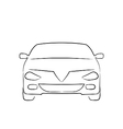 Abstract car front side full face vector image