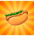 color hot dog vector image