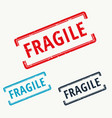 fragile rubber stamp in vector image