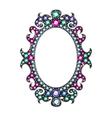Gem Mirror Frame vector image