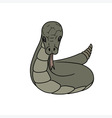 grey cartoon snake vector image