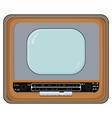 old tv set vector image