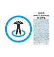 Prisoner Rounded Icon with 1000 Bonus Icons vector image