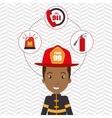 man firefighter extinguisher vector image