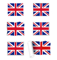 United Kingdom flag set vector image