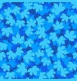tileable background with blue winter maple leaves vector image