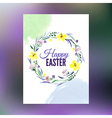 Easter greeting card watercolor hand drawn vector image vector image