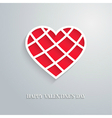 Valentines day card with cut heart vector image