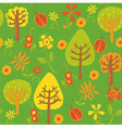 forest background pattern vector image vector image