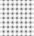 Grey checkered geometric seamless pattern vector image