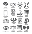 Business management icons Pack 22 vector image