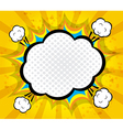 Abstract boom blank speech bubble pop art vector image