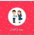 Fall in love couple vector image