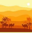 landscape with camel vector image