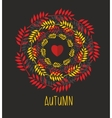 Love autumn cards over vector image