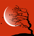 The tree bending by the wind vector image