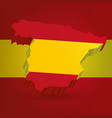 three dimensional map of spain in spanish flag vector image