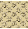 Vintage seamless background with trees vector image
