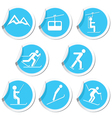 winter sort icons vector image