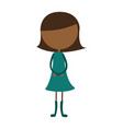 young black girl avatar character vector image