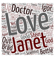 Love in a Bottle text background wordcloud concept vector image
