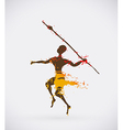 African Hunter Tribal vector image vector image