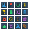 media icons set 4 vector image vector image