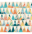 Geometric triangles background vector image vector image