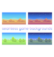 Set of 4 seamless game backgrounds vector image