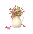 Spring flowers in jug vector