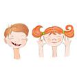 Boy and Girl smile vector image