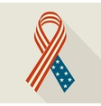 Creative Ribbon with USA Flag For Memorial Day vector image