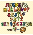 Hand drawn Trendy Font in Colors vector image