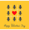 Happy Valentines Day Love card Man Woman icon Tic vector image