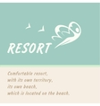 logo of the resort vector image