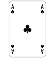 Poker playing card Ace club vector image